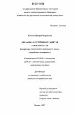 Динамика и устойчивое развитие этногеосистем скачать  Динамика и устойчивое развитие этногеосистем тема диссертации по наукам о земле скачайте бесплатно